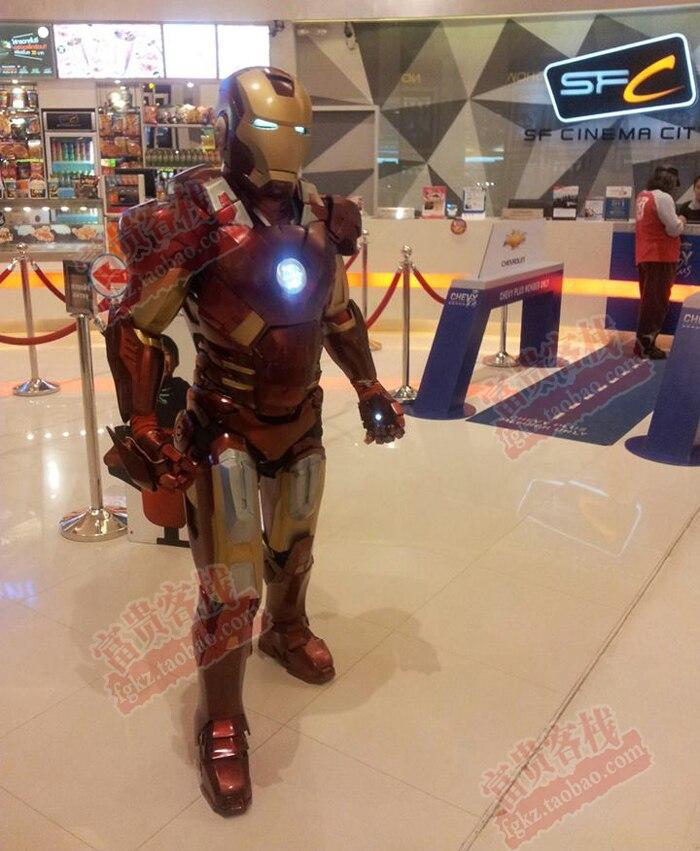 Fer homme marque 7 corps tête armure 1:1 portable papier modèle bricolage métal texture cosplay - 4