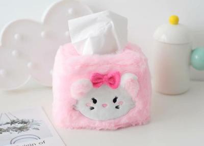 Candice guo! Cute plush toy cartoon Marie cat Dumbo elephant chipmunk square soft tissue box cover birthday Christmas gift 1pc