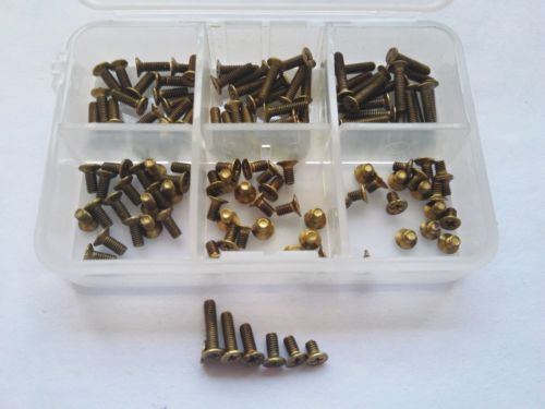 120pcs M2.5 Cross Countersunk Head Copper Screw Brass Bolt Screws Assortment Free Shipping
