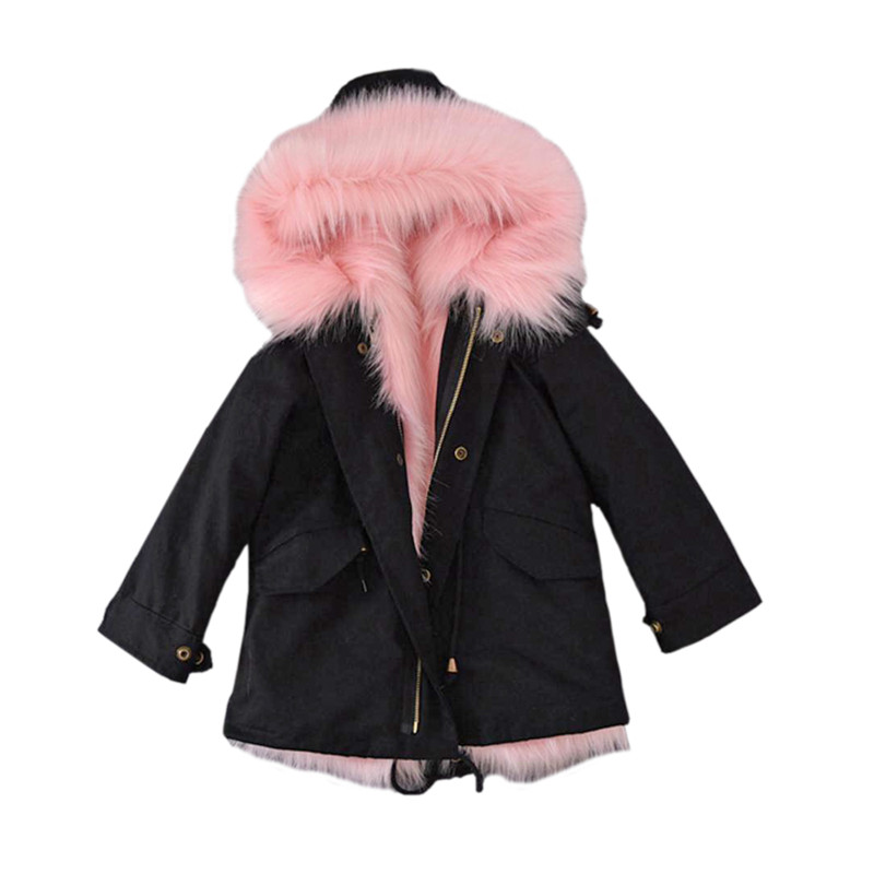 classical kid down coat solid faux fur hooded overcoat for 2-12yrs children boys girls Winter thicken down jacket outerwear hot girls down jacket for boys coat fashion rainbow children outerwear winter snow wear thicken hooded coat with faux fur collar