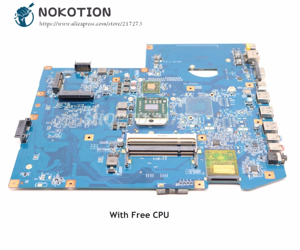 NOKOTION MBPJD01001 MBP.JD01.001 For Acer aspire 7540 Laptop Motherboard 48.4FP02.011 Socket S1 ddr2 Free Processor