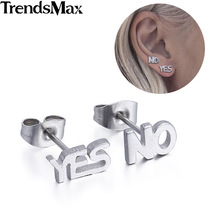 Trendsmax (4 pieces/set) Womens Girls Mens Boys Stainless Steel Triangle Screw Back Studs Earrings Black KE147