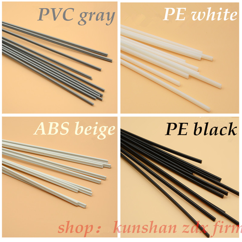 4 kinds of PP ABS PE PVC material plastic welding rod car pipe plastic sheet welding