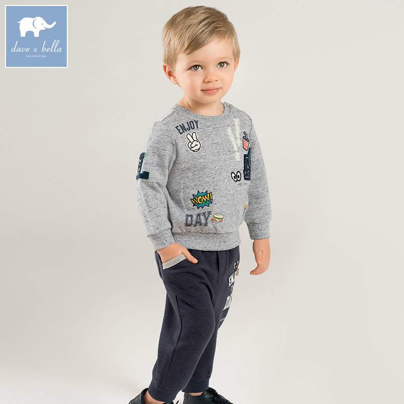 8a9ea010e2fd DB8440 dave bella autumn baby boys clothes infant toddler clothing sets kids  toddler outfits children hight