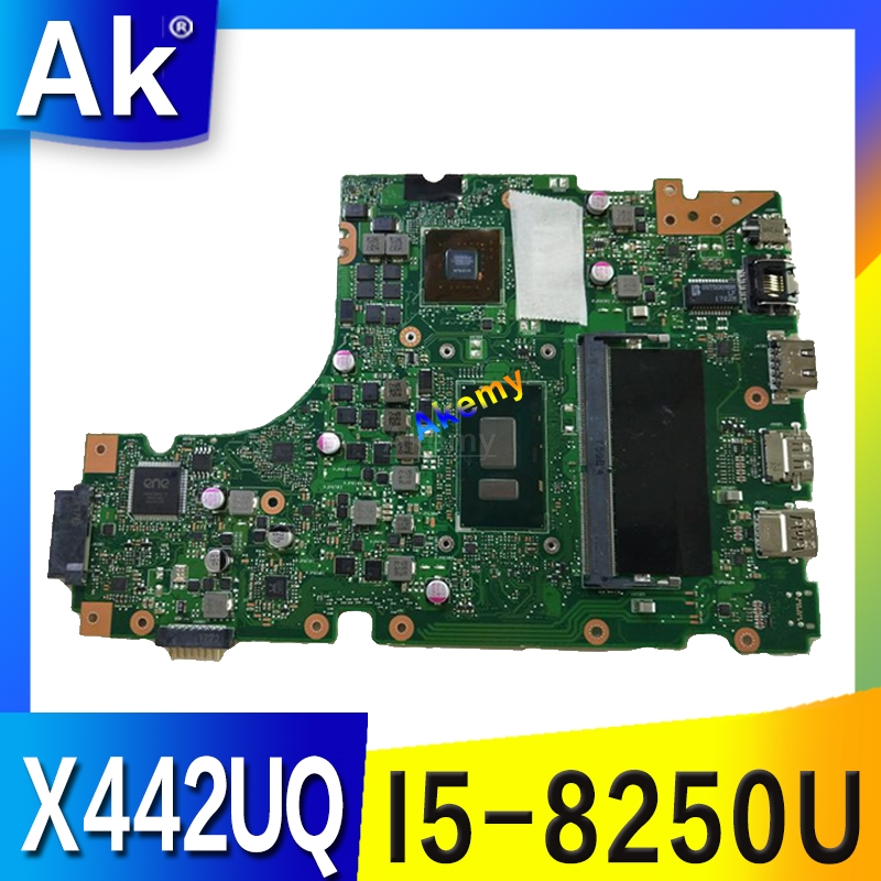 Placa base para ordenador portátil para ASUS X442 X442U X442UR X442UQ X442UQK X442UQR placa base 100% probado con i5-8250U cpu 4GB de RAM