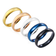 Wedding Band Ring Valentine Gift Latest Fashion Fortunately Rose Gold Women Men Polished Stainless Steel Ring Convention Jewelry