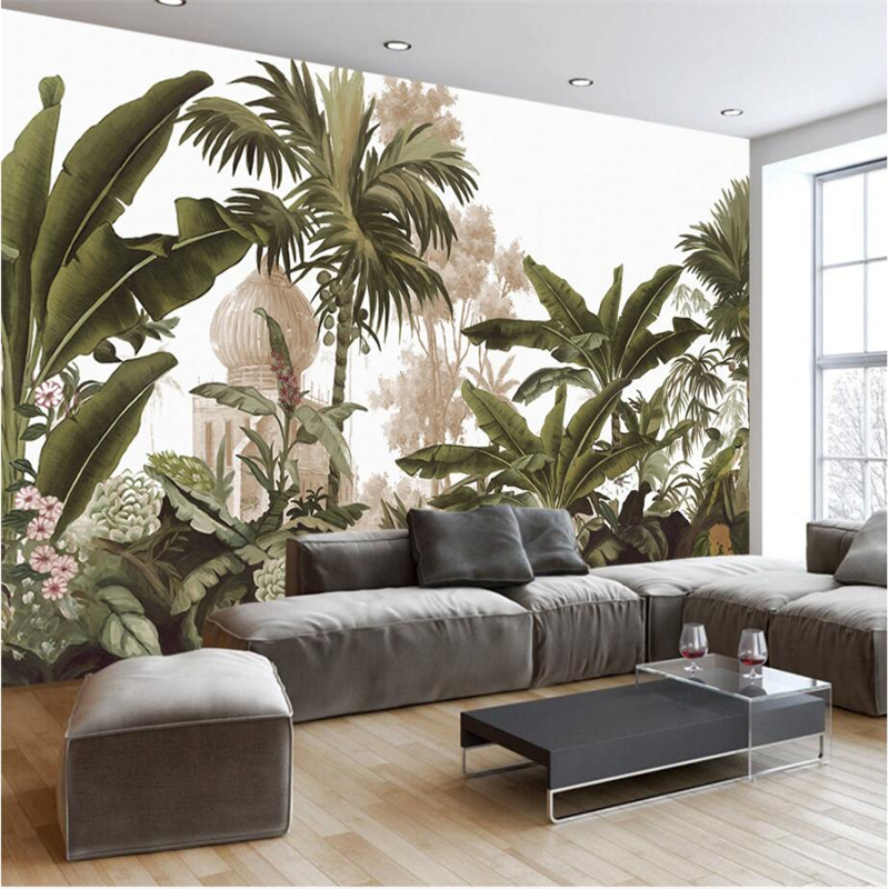wall paper for living room. Online Shop beibehang Custom 3d Wallpaper European Retro Vintage Hand Drawn  Rainforest Wall paper Living Room Bedroom TV backdrop Aliexpress Mobile