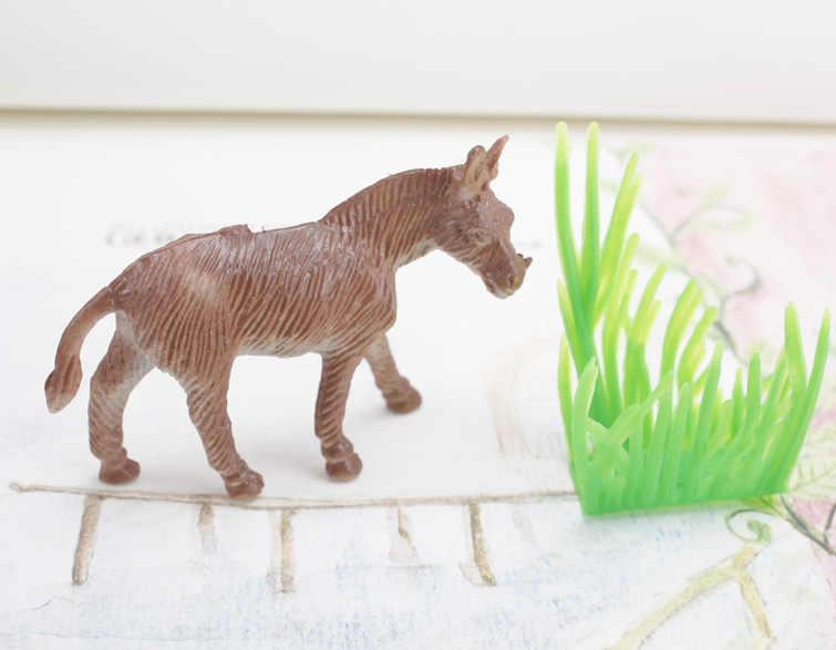 """15 ピース/パックファーム動物のおもちゃ 2 """"動物牛犬羊ガチョウ家族ファーム家禽飼料フェンスシミュレーションモデルのおもちゃ子供のための"""
