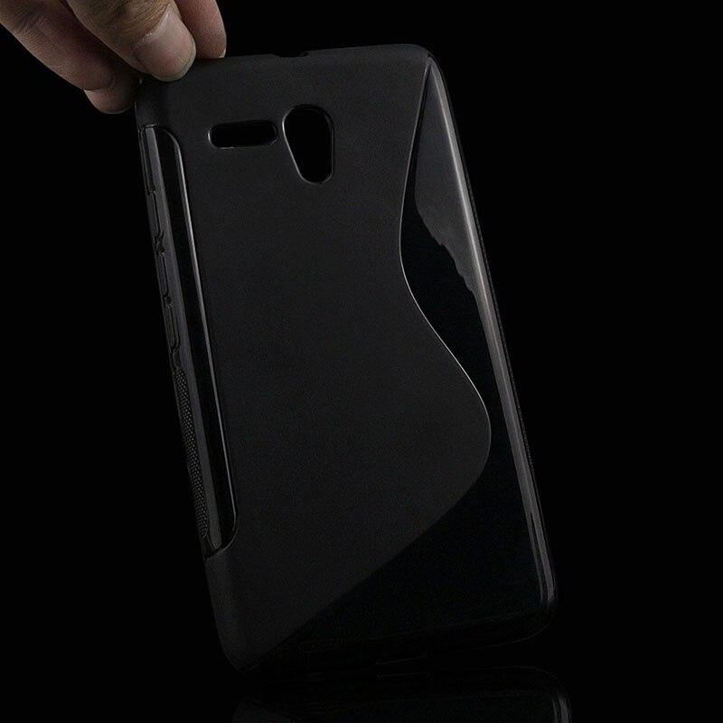 S линии мягкий чехол TPU для <font><b>Alcatel</b></font> One Touch POP 3 5.5 5025d 5025 назад защиты резины матовый Силиконовый телефон сумки