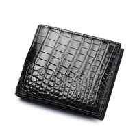 New Classical Designer Exotic Genuine Crocodile Skin Alligator Leather Men's Black Card Holder Wallet Male Large Clutch Purse