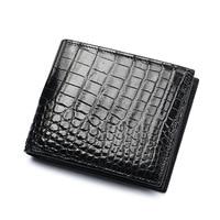 New Classical Designer Exotic Genuine Crocodile Skin Alligator Leather Men's Black Card Holder Wallet Male Large Clutch Purse