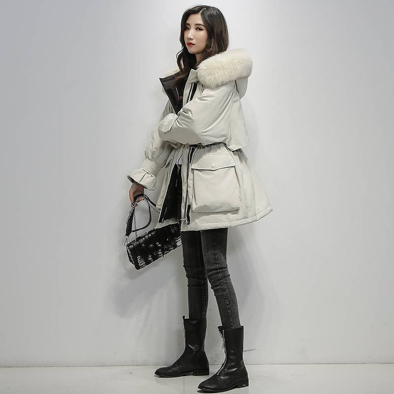 2019-Winter-Women-Real-Natural--Fur-Collar-Hooded-Down-Loose-Coat-Parka-Female-Thick-Warm (6)