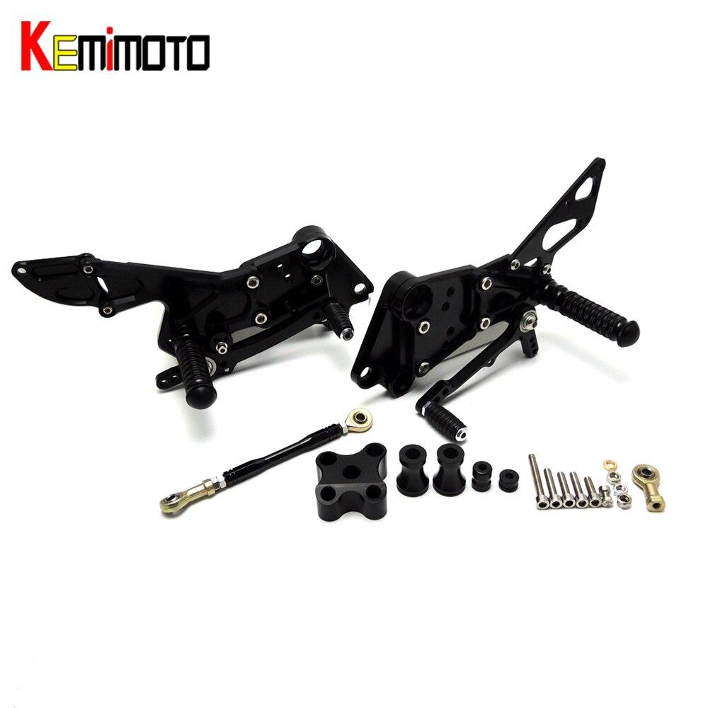 KEMiMOTO Pour KTM Duke RC 390 125 200 2011 2012 2013 2014 Repose-pied Réglable Commandes Reculées Set Arrière Pédale pour KTM 125 200 390