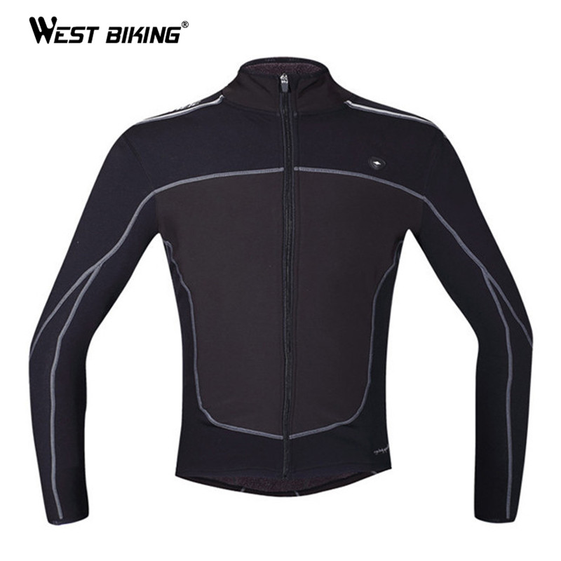 WEST BIKING Winter Cycling Clothing Windproof Thermal Fleece Warm Jacket Sports Ropa Ciclismo MTB Bike Bicycle Cycling Jersey black thermal fleece cycling clothing winter fleece long adequate quality cycling jersey bicycle clothing cc5081