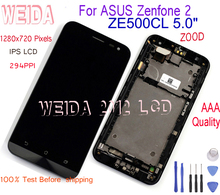 Tested 5.0 LCD For ASUS Zenfone 2 ZE500CL Z00D with Frame Digitizer Replacement Display Touch Screen
