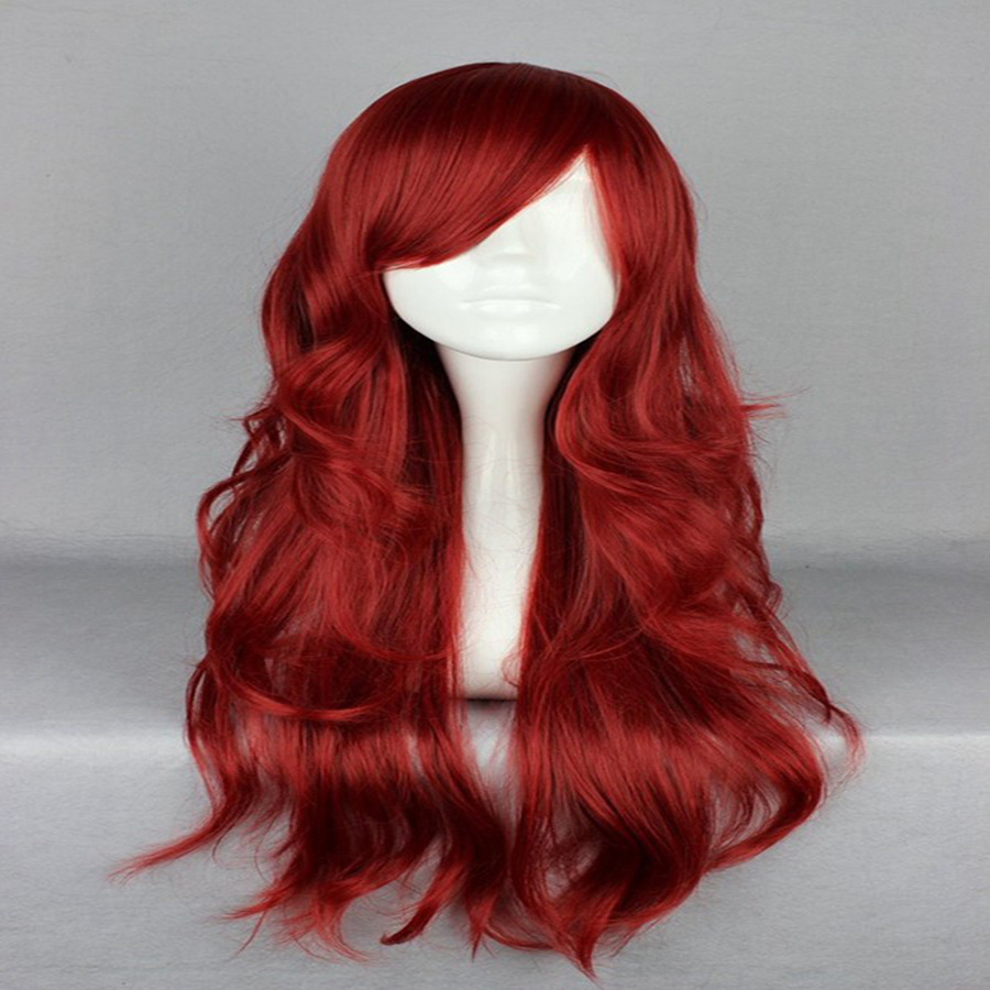 HAIRJOY Synthetic Hair Zipper 70cm Long Wavy Harajuku Lolita Cosplay Wig 18 Colors Available 107