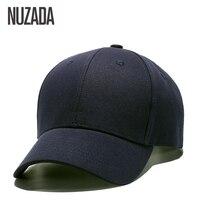 Brand NUZADA Classic Solid Color Baseball Cap For Men Women Couple Bone High Quality Cotton Hip