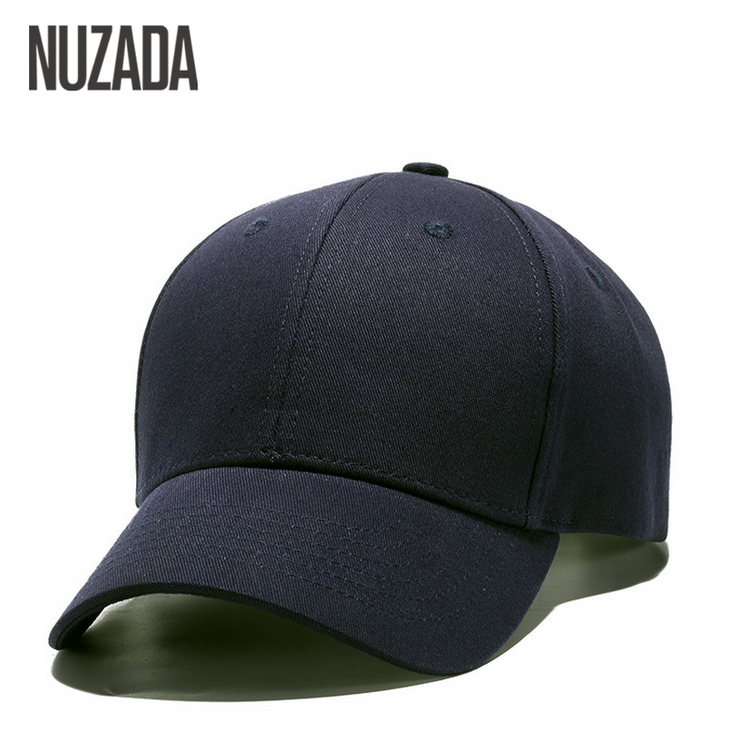 Brand NUZADA Classic Solid Color   Baseball     Cap   For Men Women Couple Bone High Quality Cotton Hip Hop   Caps   Spring Summer Hats
