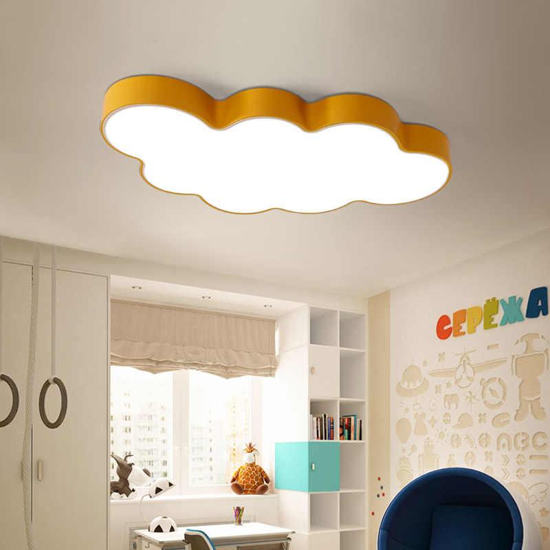 Nowoczesna chmura lampa sufitowa dla dzieci dzieci lampa sufitowa LED żelaza abażur dla dzieci oprawa oświetleniowa do sypialni oprawa oświetleniowa