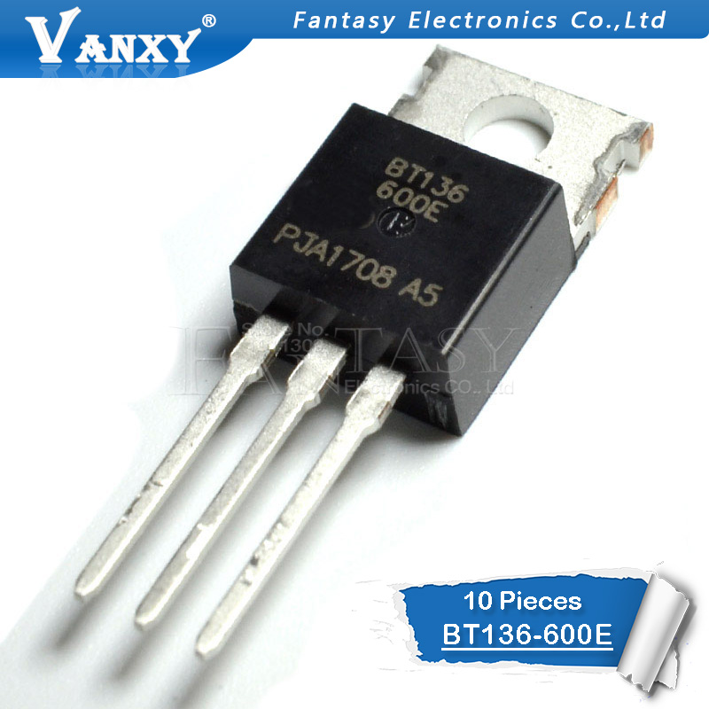 10PCS BT136-600E TO220 BT136-600 TO-220 BT136 136-600E New And  Original IC