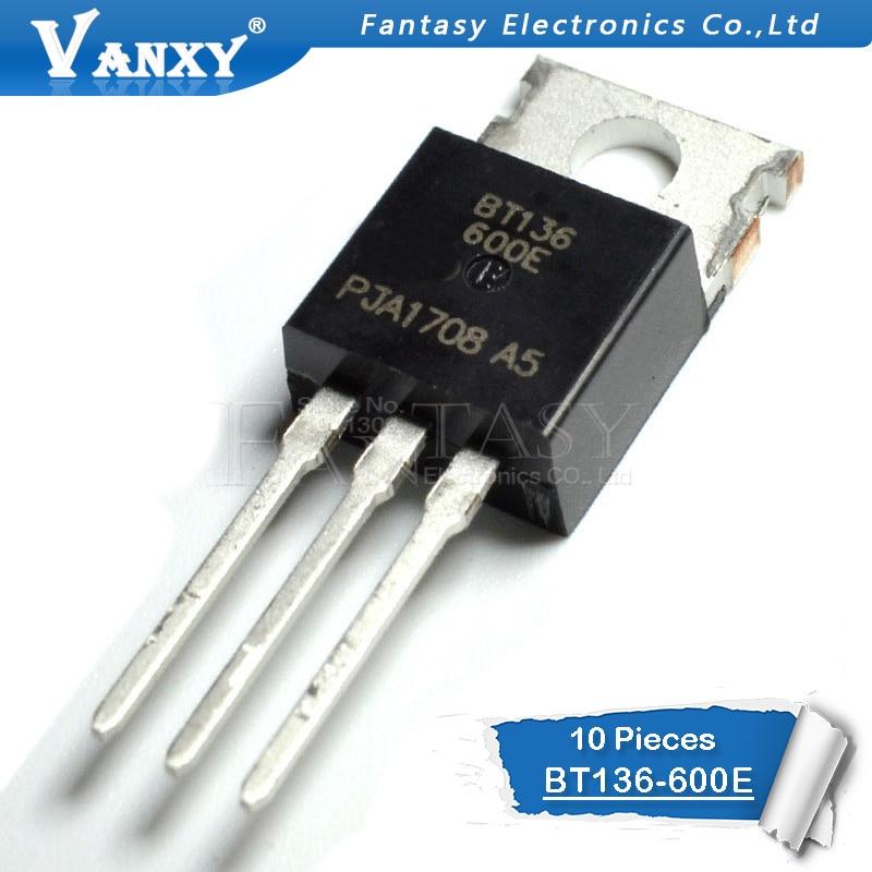 10PCS BT136-600E TO220 BT136-600 TO-220 BT136 136-600E New And  Original IC