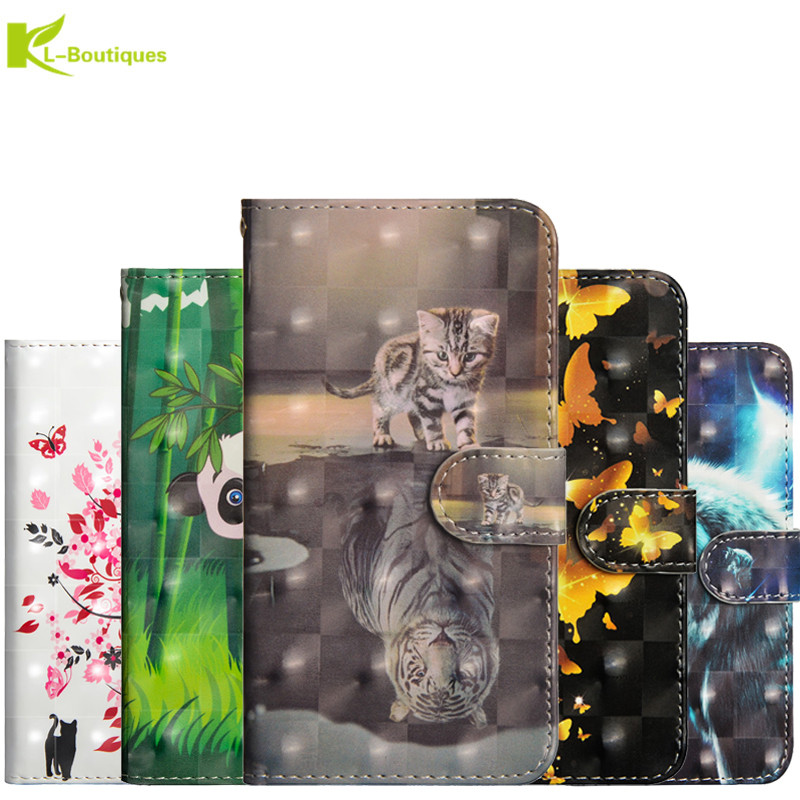 Honor 8X Etui 3D Flip Leather sFor Fundas Huawei Honor8X Cases Shockproof Cover Cartoon Panda Wallet Stand Case Coque(China)