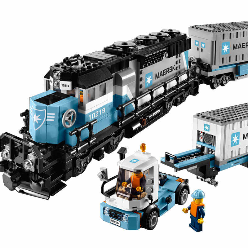 1234pcs Creative Technology Series Maersk Train Building Blocks Kit Toy DIY Educaitonal Children Birthday Gifts