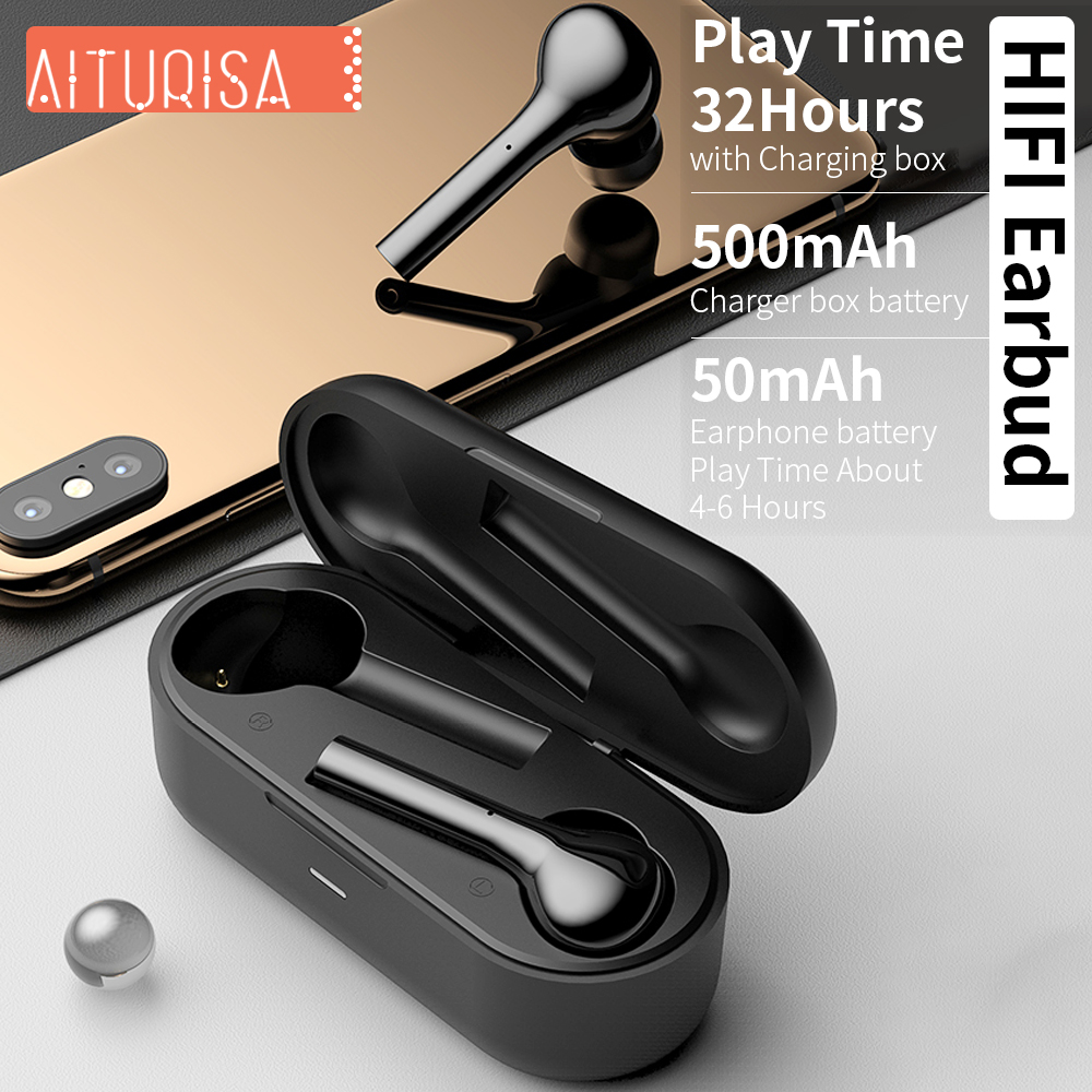Image 2 - Bluetooth 5.0 Headphones 3D Deep Bass Wireless Earphone HIFI Earpiece Built in Mic With Portable Charging Box For all Smartphone-in Bluetooth Earphones & Headphones from Consumer Electronics