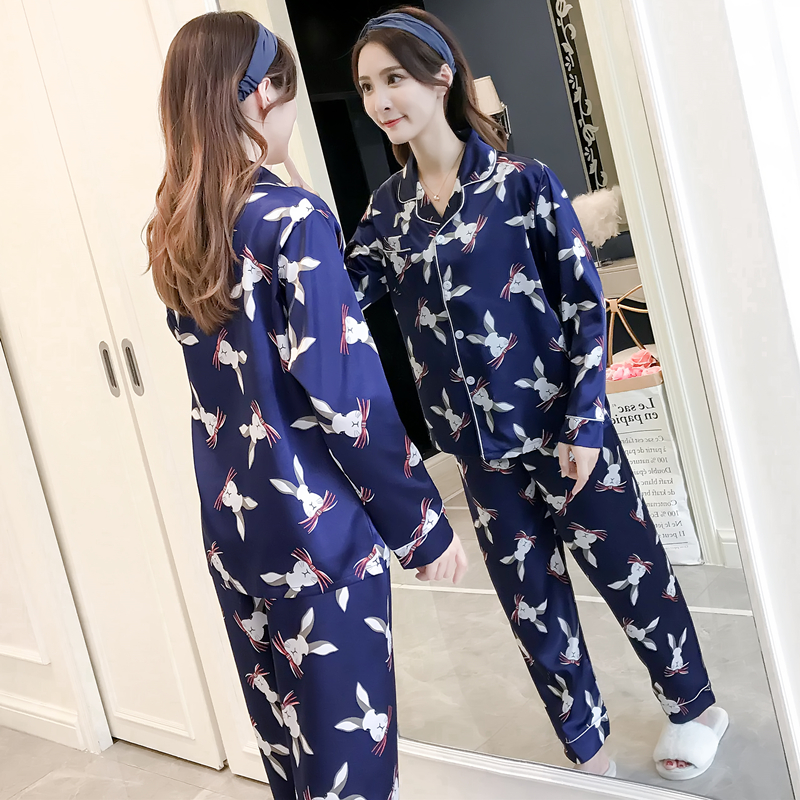 4f9cf10dd6 Aliexpress.com   Buy JRMISSLI Pajama Set Women Animal Pyjama Ladies Full  Sleeve Long Pants Two Pieces rabbit Print Set Pajamas Sleep Lounge from  Reliable ...