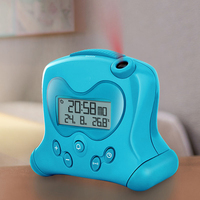 2017 New Projection Creative Alarm Clock USB Temperature Calendars Lazy Student Bedside Silence Electronic Figure Cute Child