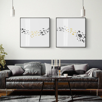 Abstract Modern Nordic Style Living Room Decorative Painting Restaurant Bedroom Bedside Hanging Background Wall Painting Ink