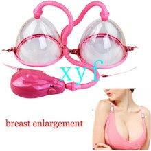 Masajeador de senos eléctrico Manual, dispositivo de vacío Manual para aumento de senos, copa para senos, tamaño S/L