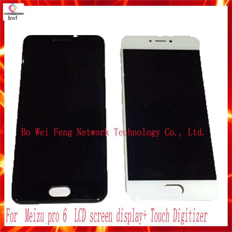 50Pcs/lot EMS DHL High Quality LCD screen display+Touch Digitizer For 5.2'' Meizu pro 6 white/black color Free shipping+Tracking dhl ems high quality black white gold