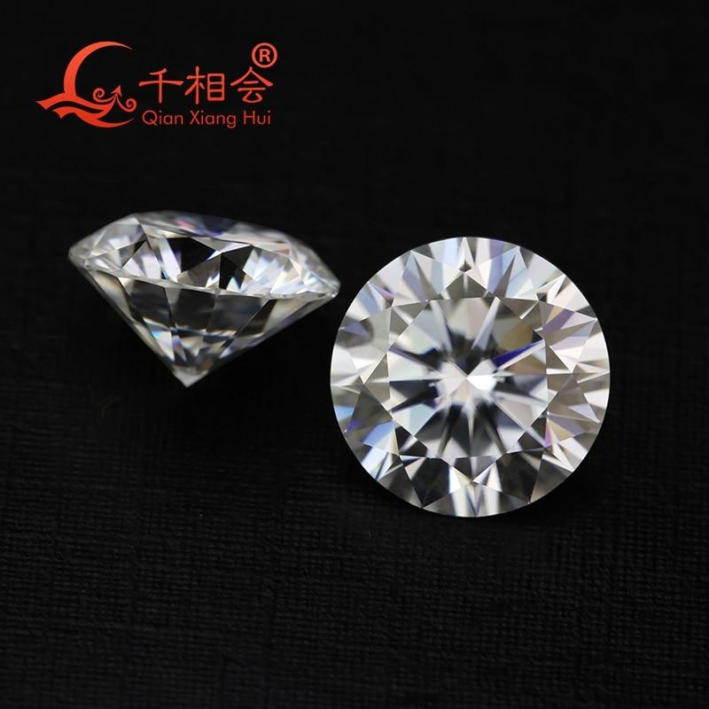 3mm Bis 11mm Df Farbe Weiß Runde Form Brilliant Cut Sic Material Moissanites Lose Edelstein Stein Qianxianghui Fest In Der Struktur