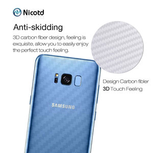 Image 3 - Back Sticker 3Pcs For Samsung Galaxy A8 A6 J6 2018 Plus Screen Protector For Samsung S9 Plus S8 Carbon Fiber On Phone Back Film