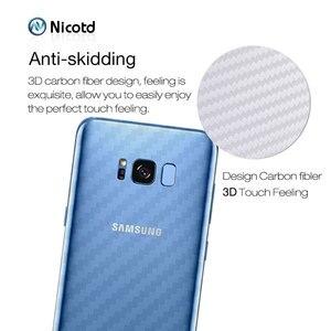 Image 3 - Zurück Aufkleber 3Pcs Für Samsung Galaxy A8 A6 J6 2018 Plus Screen Protector Für Samsung S9 Plus S8 Carbon faser Auf Telefon Zurück Film