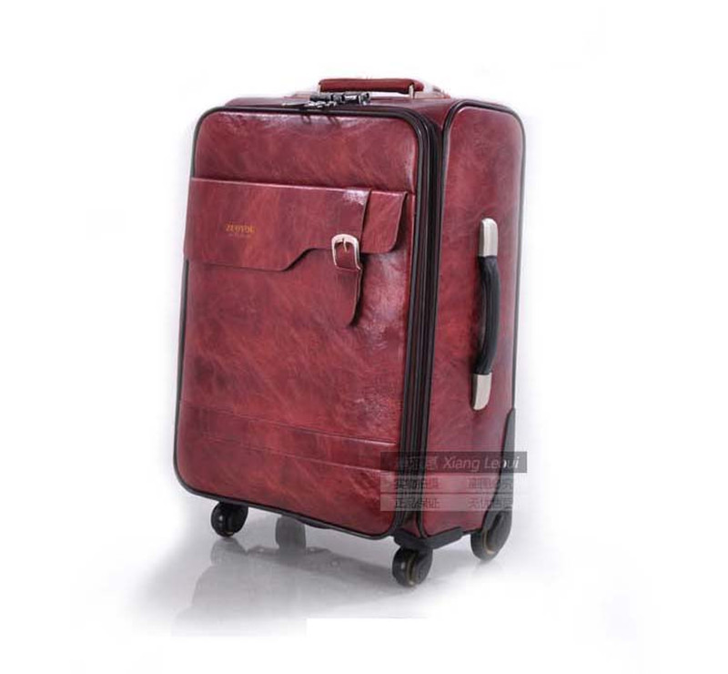 2017 PU Trolley luggage trolley travel suitcase with trolleys luggage case Rolling 22inch MALETAS mala de viagem