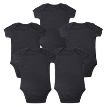 2017 Baby Black Infant Toddler Newborn Girls Letters Printed Bodysuit Jumpsuit Outfits Clothes 0-24M