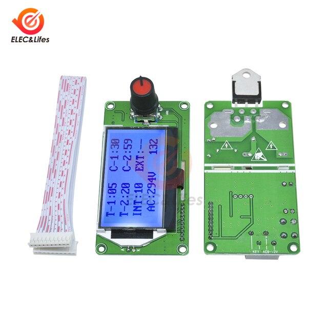 液晶デジタルパルスエンコーダスポット溶接機コントローラモジュール 100A 40A 18650 リチウムバッテリー/電池群スポット溶接機