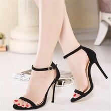 JIANBUDAN Mature sexy womens high-heeled sandals Summer wedding 11cm High Heel Professional Banquet Sandals 35-40