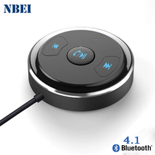 цена на NBEI Wireless Bluetooth Receiver V4.1 Car Handfree 3.5mm Jack Auto AUX Audio Adapter With Mic For Speaker Blutooth Stereo Music