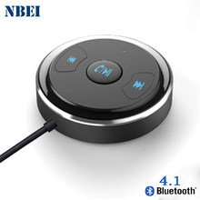 NBEI Bluetooth Receiver Nirkabel V4.1 Mobil Handfree 3.5mm Jack Auto AUX Audio Adapter Dengan Mic Untuk Speaker Blutooth Stereo musik(China)