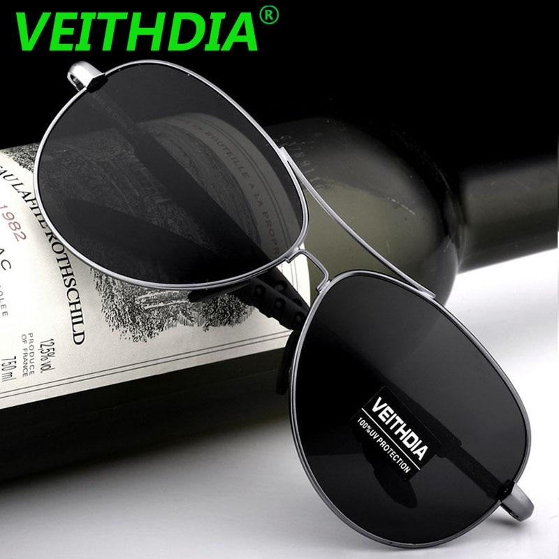 Veithdia marca polarizada óculos de sol de condução dos homens uv400 masculino acessórios eyewear óculos de sol masculin para homem 3088