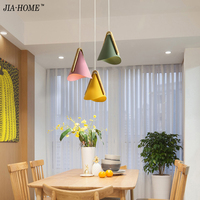 Nordic Modern Dining Room Pendant Light E27*3 Heads Round Ceiling Plate Indoor Living Room Restaurant Coffee Bar Decoration Lamp