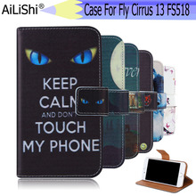 AiLiShi For Fly Cirrus 13 FS518 Case Exclusive Phone FS518 Fly Painted Leather Case Flip Credit Card Holder Wallet 6 Colors смартфон fly fs518 cirrus 13 midnight red