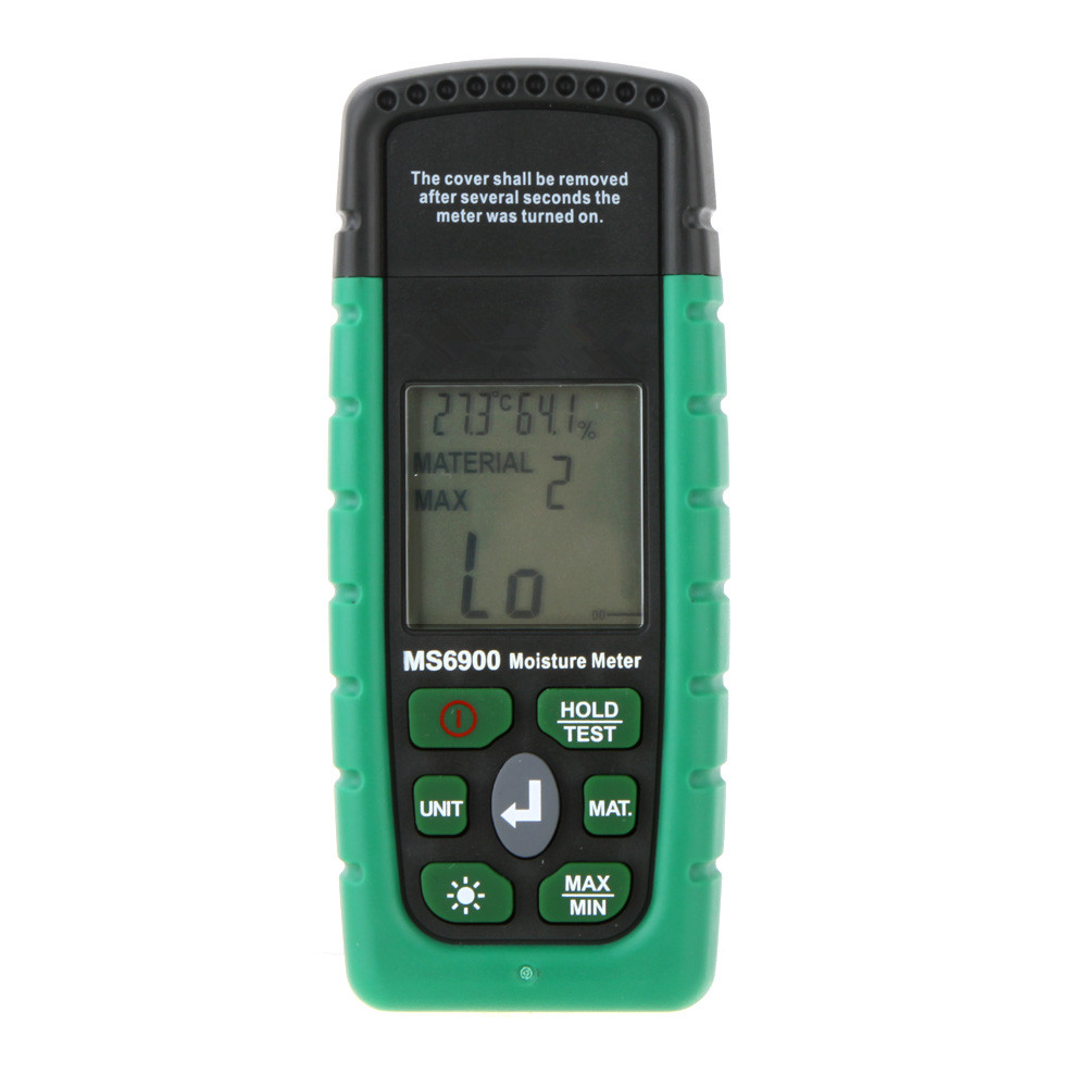 Hot Sale Original Handheld Portable Digital Humidity Meter Moisture Meter Wood/Lumber/Concrete Buildings LCD Display Higrometre portable pin type wood moisture meter mc7806