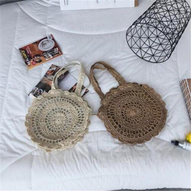Summer Rattan Handmade Knitted Travel Shoulder Bags 3