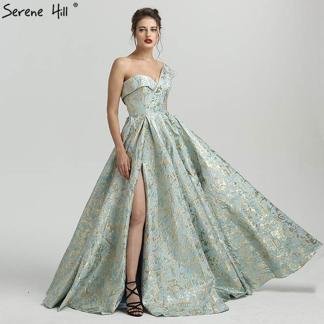 Sexy Duabai One  Shoulder  3D Printing Formal Evening Prom Party Gown Dress  Gowns Dresses 2019 BLA6486