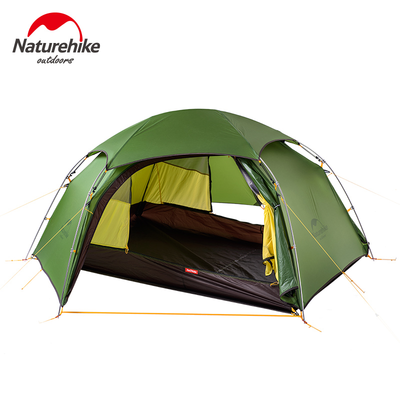 Naturehike camping tent Outdoor Silicone Ultralight Tents Double Layer hiking travel NH Camping Aluminum Pole Tents