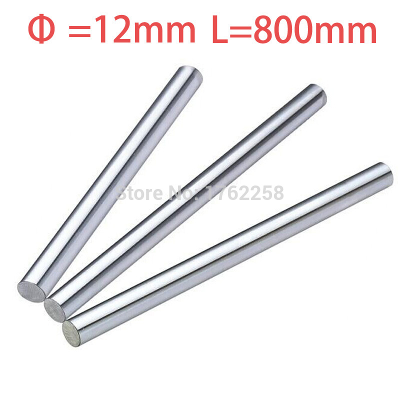 2PCS 12mm x 800mm Linear Shaft 3D Printer Cylinder Liner Rail Axis CNC Parts 2pcs lot 8mm 8x450 linear shaft 450mm 3d printer 8mm x 450mm cylinder liner rail linear shaft axis cnc parts
